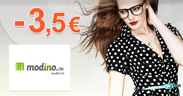 Modino.sk zľavový kód zľava -3,5€, kupón, akcia