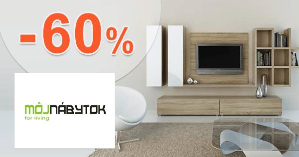 MojNabytok.sk zľavový kód zľava -60%, kupón, akcia, výpredaj nábytku, akcie, zľavy na nábytok