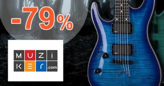 Muziker.sk zľavový kód zľava -79%, kupón, akcia, výpredaj