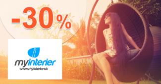 MyInterier.sk zľavový kód zľava -30%, kupón, akcia, výpredaj