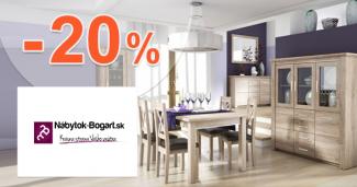 Nabytok-Bogart.sk zľavový kód zľava -20%, kupón, akcia