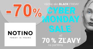 Notino.sk zľavový kód zľava -70%, kupón, akcia, cyber monday zľavy
