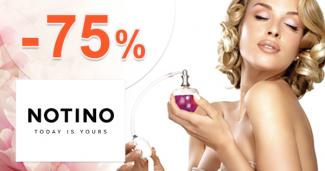 Notino.sk zľavový kód zľava -75%, kupón, akcia