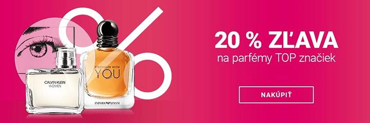 Zľava 20% na TOP parfémy na Notino