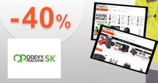 OdevyPracovne.sk zľavový kód zľava -40%, kupón, akcia, akcie, zľavy, výpredaj