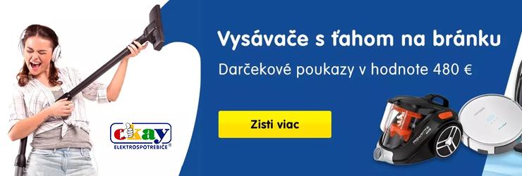 Zľavové kupóny na vysávače na Okay.sk