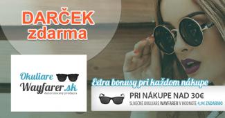 OkuliareWayfarer.sk darček ZDARMA, akcia, zľava, kupón, okuliare zadarmo
