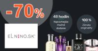 Parfemy-ELNINO.sk zľavový kód zľava -70%, kupón, akcia, výpredaj, outlet kozmetiky