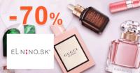 Parfemy-ELNINO.sk zľavový kód zľava -70%, kupón, akcia, výpredaj, outlet parfumov