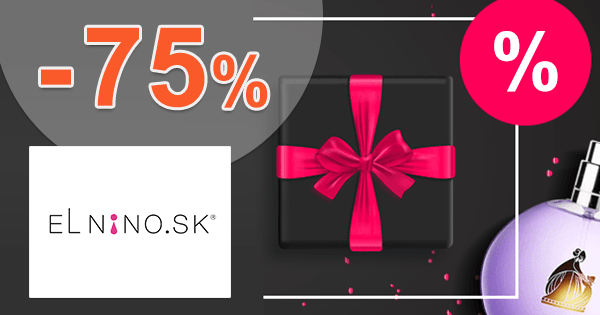Parfemy-ELNINO.sk zľavový kód zľava -75%, kupón, akcia, výpredaj, bestsellery parfumov
