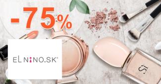 Parfemy-ELNINO.sk zľavový kód zľava -75%, kupón, akcia, výpredaj, zľavy na kozmetiku