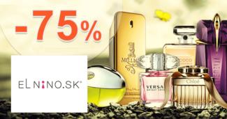 Parfemy-ELNINO.sk zľavový kód zľava -75%, kupón, akcia, výpredaj, zľavy na parfumy