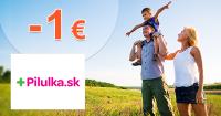 Pilulka.sk zľavový kód zľava -1€, kupón, akcia