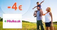Pilulka.sk zľavový kód zľava -4€, kupón, akcia