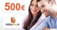 Pôžičkomat.sk rýchla pôžička až 500€, akcia, zľava, kupón