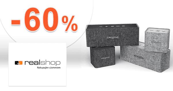 RealShop.sk zľavový kód zľava -60%, kupón, akcia, výpredaj