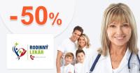 RodinnyLekar.sk zľavový kód zľava -50%, kupón, akcia