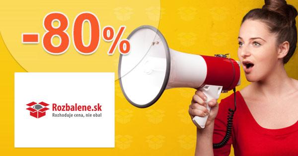 Zľavy vo výpredaji až -80% na Rozbalene.sk 85475413938