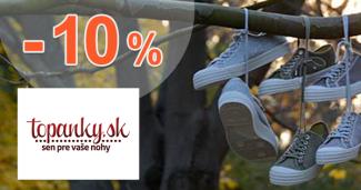 Topanky.sk zľavový kód zľava -10%, kupón, akcia