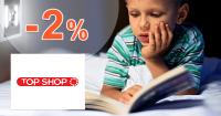 TopShop.sk zľavový kód zľava -2%, kupón, akcia