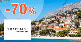 Travelist.sk zľavový kód zľava -70%, kupón, akcia