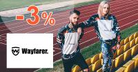 Wayfarer.sk zľavový kód zľava -3%, kupón, akcia, výpredaj