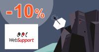 WebSupport.sk zľavový kód zľava -10%, kupón, akcia