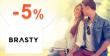 Zľavový kód -5% zľava k nákupu na Brasty.sk