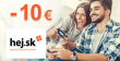 Zľavový kód -10€ zľava NA VŠETKO na Hej.sk