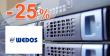 Zľavový kód -25% na webhosting a služby Wedos