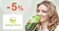 ZelenyZivot.sk zľavový kód zľava -5%, kupón, akcia