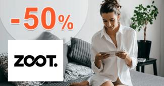 ZOOT.sk zľavový kód zľava -50%, kupón, akcia, výpredaj, zľavy pre bývanie