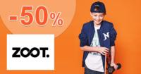 ZOOT.sk zľavový kód zľava -50%, kupón, akcia, výpredaj, zľavy pre chlapcov