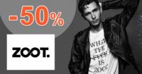ZOOT.sk zľavový kód zľava -50%, kupón, akcia, výpredaj, zľavy pre mužov