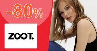 Výpredaj až -80% na ZOOT.sk + doprava ZDARMA